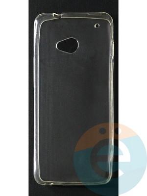 Накладка силиконовая ультратонкая на HTC M7 прозрачная - фото 42857