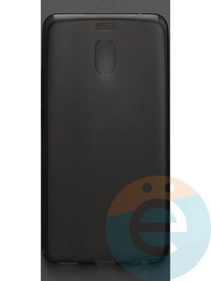 Накладка силиконовая ультратонкая на Meizu M6 Note тёмно-прозрачная - фото 42863