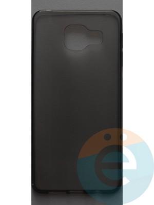Накладка силиконовая ультратонкая на Samsung Galaxy A3 (2016) SM-A310 тёмно-прозрачная - фото 44369
