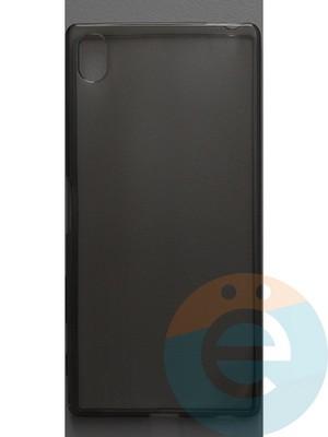 Накладка силиконовая ультратонкая на Sony Xperia Z5 Plus тёмно-прозрачная - фото 44377