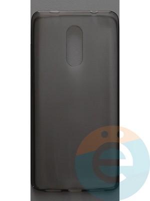 Накладка силиконовая ультратонкая на Xiaomi Redmi Note 4X тёмно-прозрачная - фото 44383