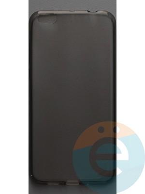 Накладка силиконовая ультратонкая на Xiaomi Mi 5C тёмно-прозрачная - фото 44385