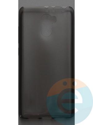 Накладка силиконовая ультратонкая на Xiaomi Redmi 4 тёмно-прозрачная - фото 44388