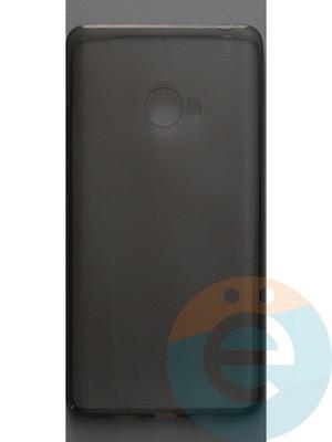 Накладка силиконовая ультратонкая на Xiaomi Mi Note 2 тёмно-прозрачная - фото 44391