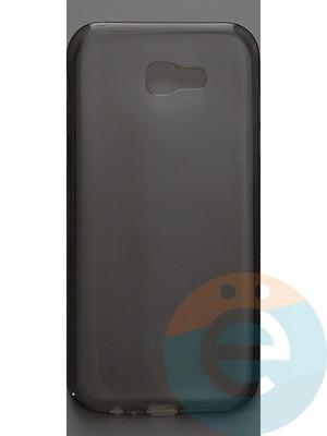 Накладка силиконовая ультратонкая на Samsung Galaxy A7 (2017) SM-A720 тёмно-прозрачная - фото 44394