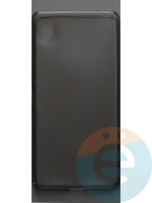 Накладка силиконовая ультратонкая на Sony X Performance тёмно-прозрачная - фото 44396