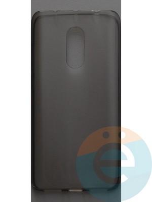 Накладка силиконовая ультратонкая на Xiaomi Redmi Note 4 тёмно-прозрачная - фото 44398