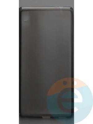 Накладка силиконовая ультратонкая на Sony C6 тёмно-прозрачная - фото 44400