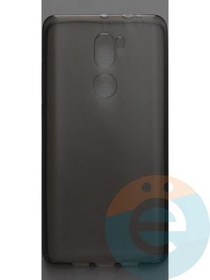 Накладка силиконовая ультратонкая на Xiaomi Mi 5S Plus тёмно-прозрачная - фото 44408