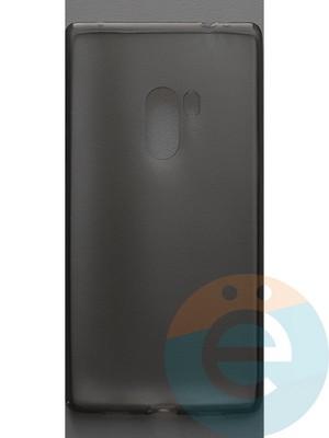 Накладка силиконовая ультратонкая на Xiaomi Mi MiX тёмно-прозрачная - фото 44414