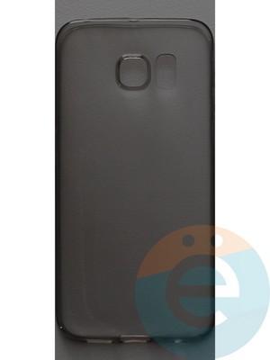Накладка силиконовая ультратонкая на Samsung Galaxy S6 Edge/G9250 тёмно-прозрачная - фото 44442