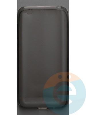 Накладка силиконовая ультратонкая на Xiaomi Redmi 5A тёмно-прозрачная - фото 44445