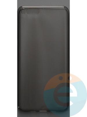 Накладка силиконовая ультратонкая на Xiaomi Mi Note3 тёмно-прозрачная - фото 44447