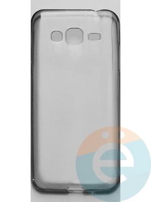 Накладка силиконовая ультратонкая на Samsung Galaxy J3 SM-J310 (2015) тёмно-прозрачная - фото 44893