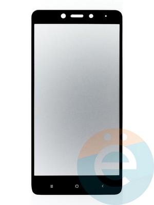 Защитное стекло 2D полноэкранное на Xiaomi Redmi Note 4 чёрное - фото 44911