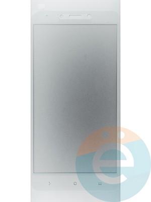 Защитное стекло 2D полноэкранное на Xiaomi Redmi Note 4 белое - фото 44913