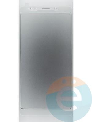 Защитное стекло 2D полноэкранное на Xiaomi Redmi Note 5 Pro белое - фото 44935