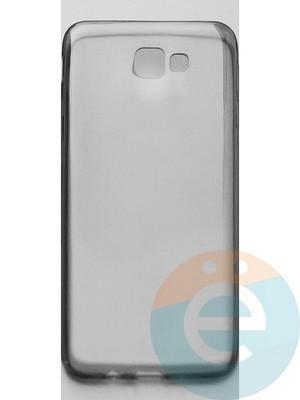 Накладка силиконовая ультратонкая на Samsung Galaxy J5 Prime (G5700) тёмно-прозрачная - фото 44941