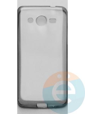 Накладка силиконовая ультратонкая на Samsung Galaxy Core 2 G355H тёмно-прозрачная - фото 44974