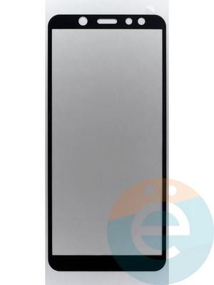 Защитное стекло 2D полноэкранное на Samsung Galaxy A6 SM-A600F (2018) чёрное - фото 45501