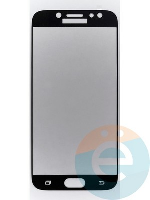 Защитное стекло 2D полноэкранное на Samsung Galaxy J7 SM-J720/730 (2017) чёрное - фото 45505