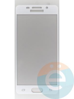 Защитное стекло 2D полноэкранное на Samsung Galaxy A3 (2016) SM-A310 белое - фото 45516