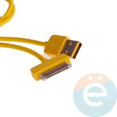 USB кабель Remax RC-06i4 для Apple iPhone 4/4s, iPad 2/3 жёлтый - фото 12348