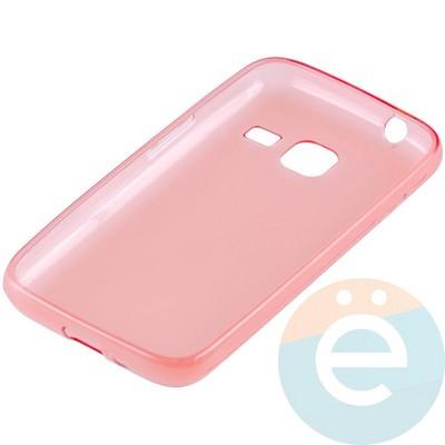Накладка силиконовая ультратонкая на Samsung Galaxy J1 mini прозрачно-красная - фото 10991