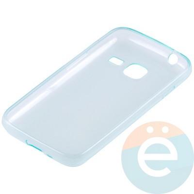 Накладка силиконовая ультратонкая на Samsung Galaxy J1 mini прозрачно-зелёная - фото 10994