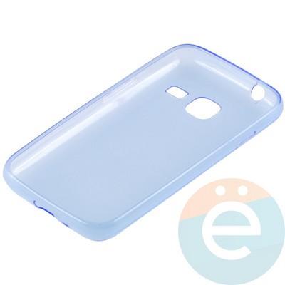 Накладка силиконовая ультра-тонкая на Samsung Galaxy J1 mini прозрачно-синия - фото 15101