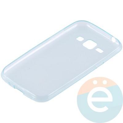 Накладка силиконовая ультратонкая на Samsung Galaxy J1 SM-J100 (2015) прозрачно-зелёная - фото 10995
