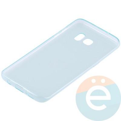 Накладка силиконовая ультра-тонкая на Samsung Galaxy S7 Edge прозрачно-зелёная - фото 11000