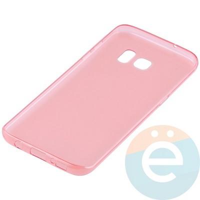 Накладка силиконовая ультратонкая на Samsung Galaxy S7 Edge прозрачно-красная - фото 10999