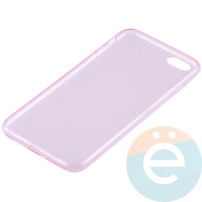 Накладка силиконовая ультра-тонкая на Apple iPhone 6 Plus/6s Plus прозрачна-розовая - фото 11995