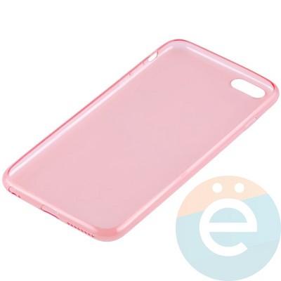 Накладка силиконовая ультра-тонкая на Apple iPhone 6 Plus/6s Plus прозрачна-красная - фото 11002
