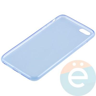 Накладка силиконовая ультратонкая на Apple iPhone 6 Plus/6s Plus прозрачно-синяя - фото 11003