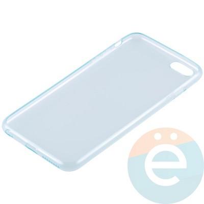 Накладка силиконовая ультра-тонкая на Apple iPhone 6 Plus/6s Plus прозрачна-зелёная - фото 11004