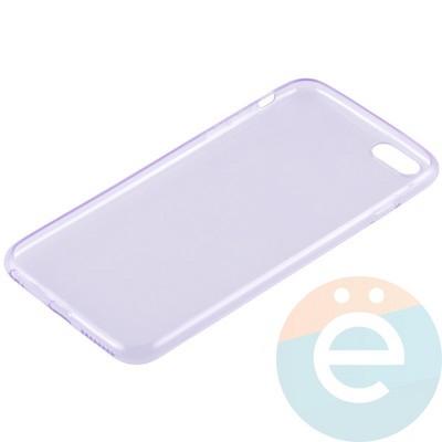 Накладка силиконовая ультратонкая на Apple iPhone 6 Plus/6s Plus прозрачно-фиолетовая - фото 11005