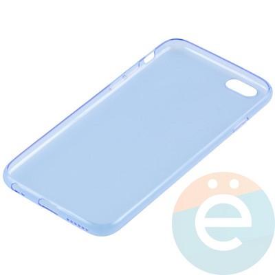 Накладка силиконовая ультра-тонкая на Apple iPhone 6/6s прозрачна-синия - фото 11006