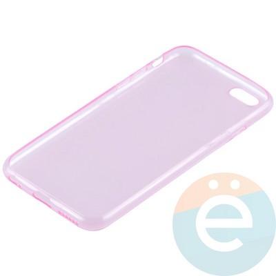 Накладка силиконовая ультра-тонкая на Apple iPhone 6/6s прозрачна-розовая - фото 11007