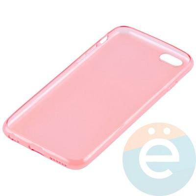 Накладка силиконовая ультра-тонкая на Apple iPhone 6/6s прозрачна-красная - фото 11008