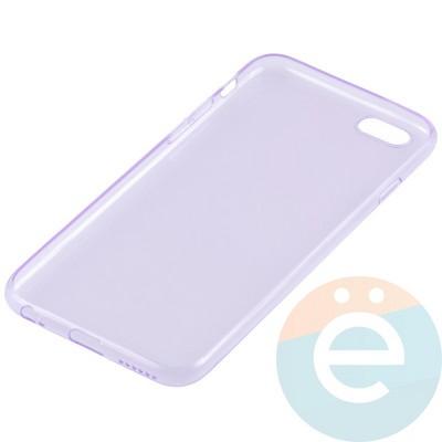 Накладка силиконовая ультра-тонкая на Apple iPhone 6/6s прозрачна-фиолетовая - фото 11009