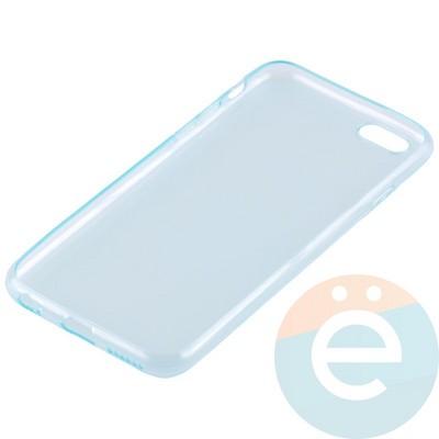 Накладка силиконовая ультратонкая на Apple iPhone 6/6s прозрачна-зелёная - фото 11010