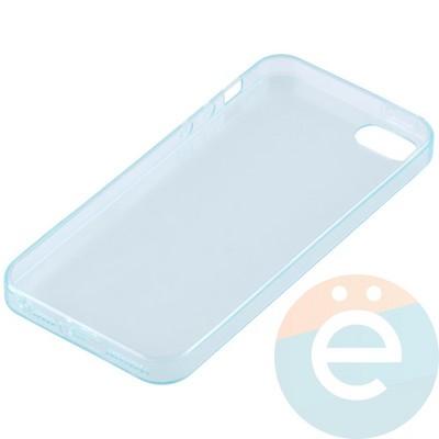 Накладка силиконовая ультратонкая на Apple iPhone 5/5s/SE прозрачна-зелёная - фото 11013