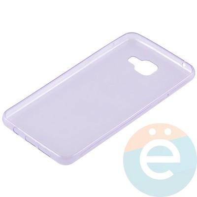 Накладка силиконовая ультратонкая на Samsung Galaxy A7 (2016) SM-A710 прозрачно-фиолетовая - фото 11018