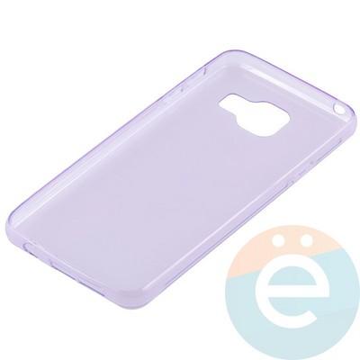 Накладка силиконовая ультратонкая на Samsung Galaxy A3 (2016) SM-A310 прозрачно-фиолетовая - фото 11024