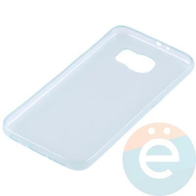 Накладка силиконовая ультратонкая на Samsung Galaxy S6 прозрачно-зелёная - фото 11030