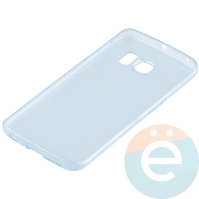 Накладка силиконовая ультратонкая на Samsung Galaxy S6 Edge прозрачно-зелёная - фото 11034