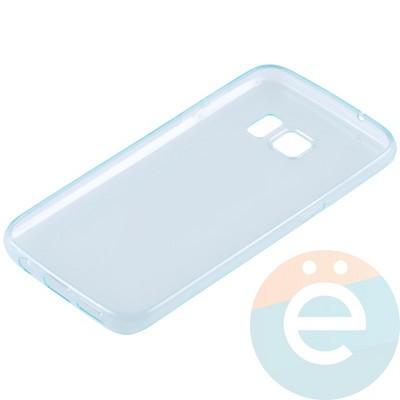 Накладка силиконовая ультратонкая на Samsung Galaxy S7 прозрачно-зелёная - фото 11037