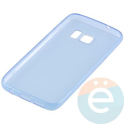 Накладка силиконовая ультратонкая на Samsung Galaxy S7 прозрачно-синия - фото 11038